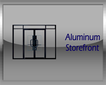 Aluminum Store Front Glass Commercial Doors